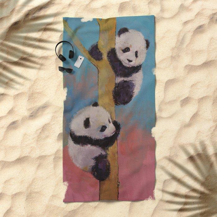 Panda Fun Beach Towel