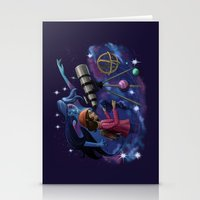 astronomy Stationery Cards featuring Muse of Astronomy by Jessica Chrysler