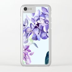 Hydrangea blue hues Clear iPhone Case