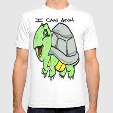 childish turtle  White MEDIUM Mens Fitted Tee
