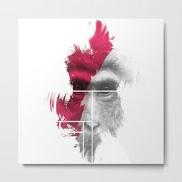 Power Monkey Mask Metal Print