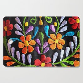 Mexican Flowers Cutting Board
