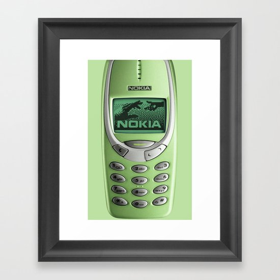 OLD NOKIA Green Lime Framed Art Print