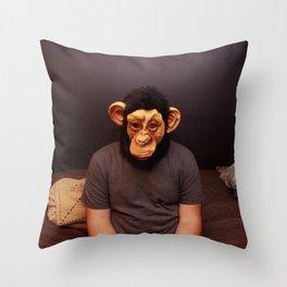monkey mask  Throw Pillow