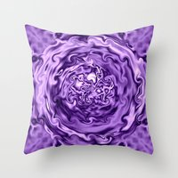 Purple Swirl Topography Throw Pillow