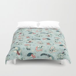 Winter herps Duvet Cover