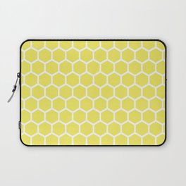 Summery Happy Yellow Honeycomb Pattern - MIX & MATCH Laptop Sleeve
