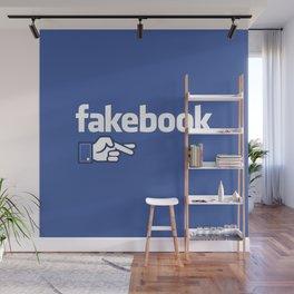 Fakebook Wall Mural