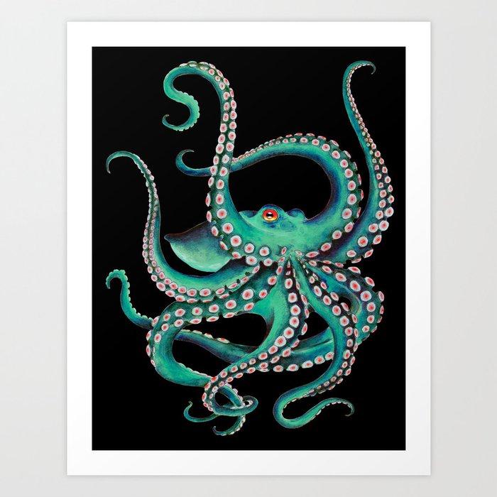 octopus-tentacles-dance-teal-watercolor-