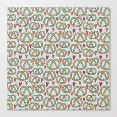 Pattern Project #43 / Pretzel Love Canvas Print