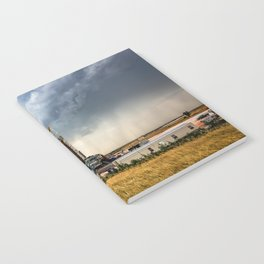 Nevermind the Weather - Oil Rig and Passing Storm in Oklahoma Notebook