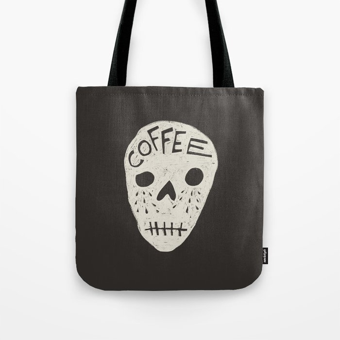 COFFEE DEATH Tote Bag
