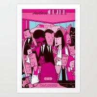 pulp fiction Art Prints featuring Pulp Fiction by Ale Giorgini