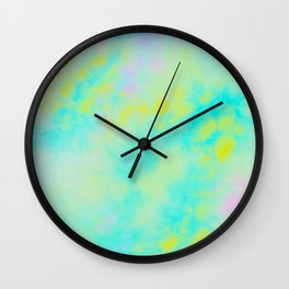 Abstract Flower Watercolor Wall Clock