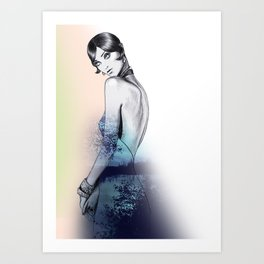 Flapper Party 2 Art Print
