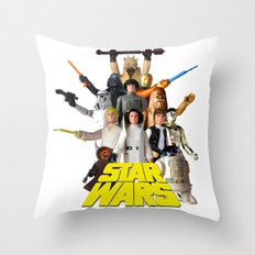 Star War Action Figures Poster - First 12 - Square Throw Pillow