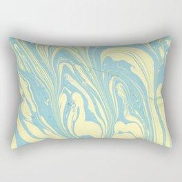 Marble of Yellow & Green Rectangular Pillow