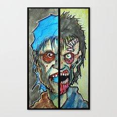 Two Half Zombie Canvas Print