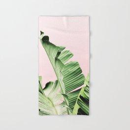 Banana Leaf on pink Hand & Bath Towel