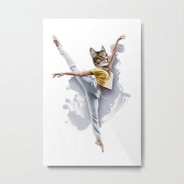 Dancing Cat Girl Pepe Psyche Metal Print