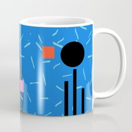 Crank - 80s retro throwback minimal abstract painting memphis style trendy vibes all day Coffee Mug