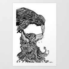 Fox and the Crow Art Print