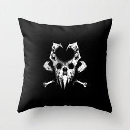 Slashing Skull Throw Pillow