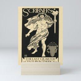 scribners   the last quarter century in america. 1895  oude poster Mini Art Print