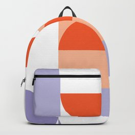 Minimal Bauhaus Semi Circle Geometric Pattern 1 - #bauhaus #minimalist Backpack