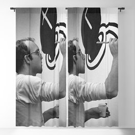 KEITH HARING PAINTING Blackout Curtain