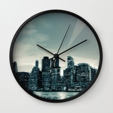 Manhattan Night Wall Clock