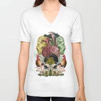 farm V-neck T-shirts featuring ANATOMY: FARM by MANDIATO ART & T-SHIRTS