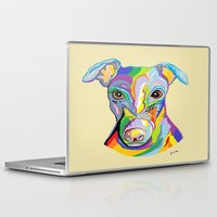 greyhound Laptop & iPad Skins featuring Greyhound by EloiseArt