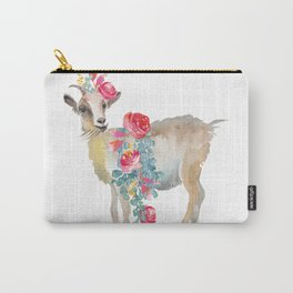 goat with flower crown Carry-All Pouch
