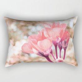 Peach Flowers Rectangular Pillow