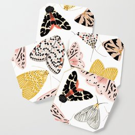 Moth's Diverse Beauty Pattern Coaster