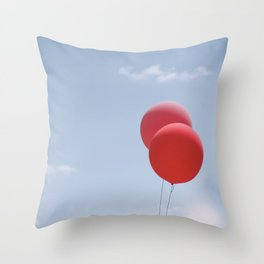 Red Balloons Throw Pillow