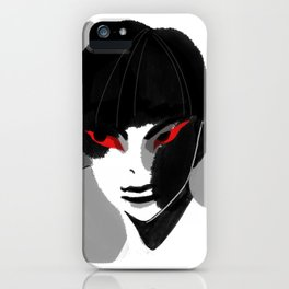Red Eyed Boy iPhone Case