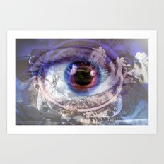 Looking through the lens  Art Print