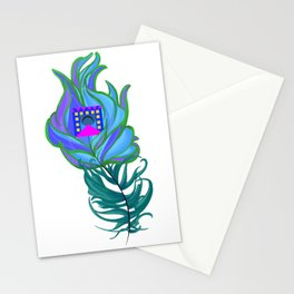 21st Century Peacock Feather Stationery Cards