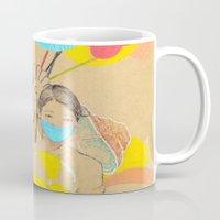 ballon Mugs featuring City Ballon Girl by Albert Palen  >   albertpalendraws.com