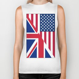 American and Union Jack Flag Biker Tank