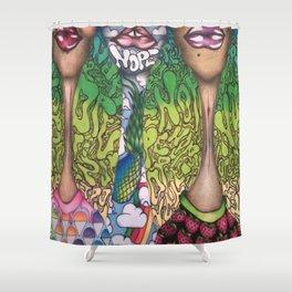 N O P E . Shower Curtain