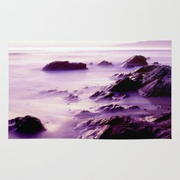 Purple Jalama Beach, California Rug