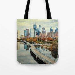 Philadelphia Fall Skyline Tote Bag