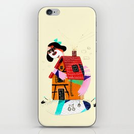 Girl in House iPhone Skin