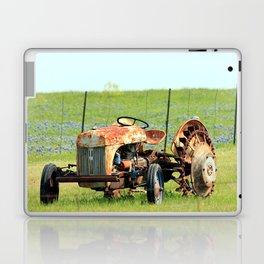 Old Tractor & Bluebonnets Laptop & iPad Skin