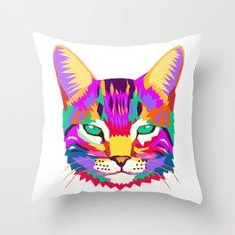art cat Throw Pillow