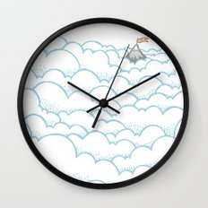 Peak above the clouds Wall Clock