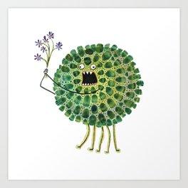 Poofy Plactus Art Print